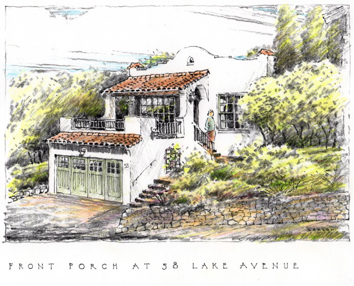 Architecture Drawing Colour Sketch Image